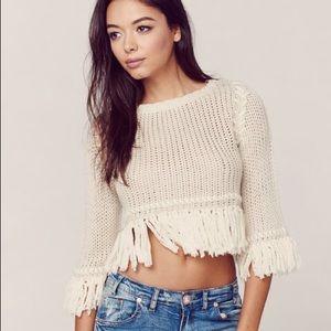For love and lemons Denver knit cream crop sweater